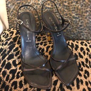 Casadei Bamboo Heeled Sandals